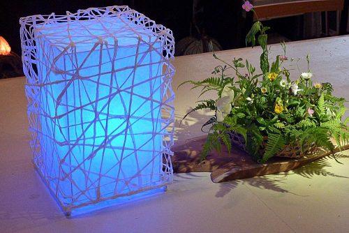 LED(青)を光源に製作